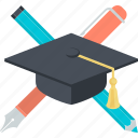 education, flat design, learning, school, study, university icon