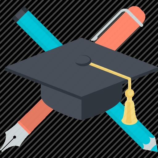 education, flat design, learning, school, study, university icon