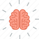 brain, education, flat design, idea, learn, people, think icon