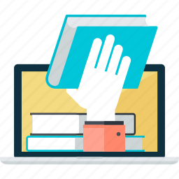books, e-book, education, flat design, internet, online icon