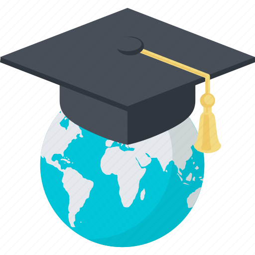 distance, e-learning, education, flat design, internet, learning, online icon