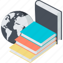 book, education, flat design, knowledge, online icon