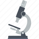 education, flat design, laboratory, microscope, research, science icon