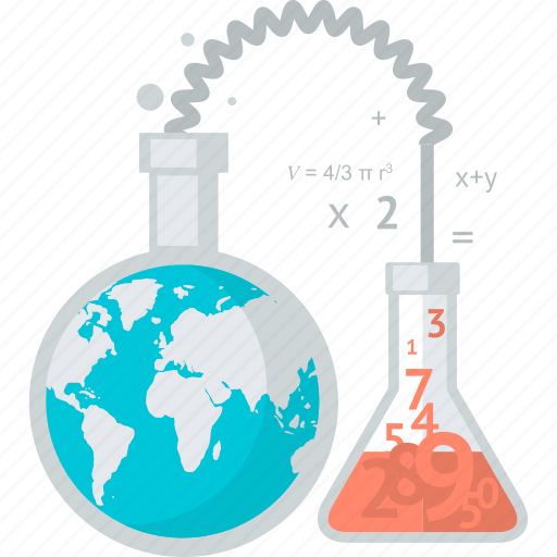 education, flat design, laboratory, science, test, university icon