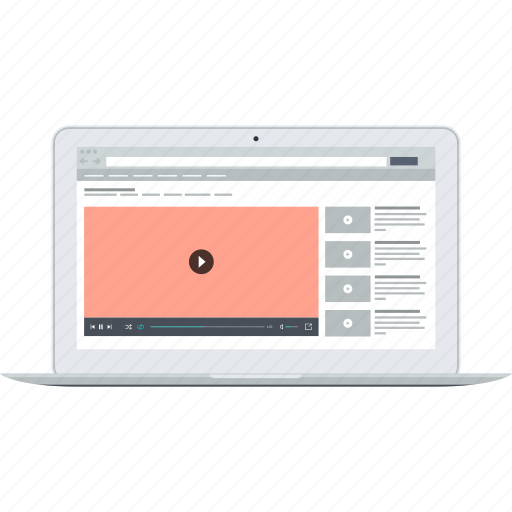 e-learning, education, internet, online, tutorials, video icon