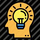 bulb, light, knowledge, creative, head