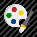 paint, palette, arts, brush, color, artistic icon
