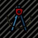 direction, compass, arrow, symbol, geometry icon