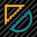 geometry, pencil, symbol, ruler, write, template icon