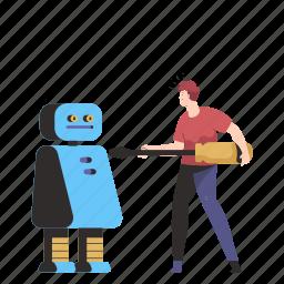 robotics, robot, mechanics, screwdriver, man, artificial, intelligence