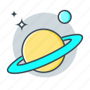 astronomy, planet, saturn, saturn rings, science, space icon