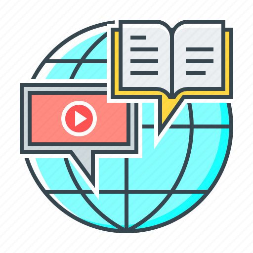 distance, e-learning, education, online, online education icon