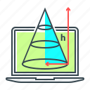 figure, geometry, height, science, shape, trigonometry icon