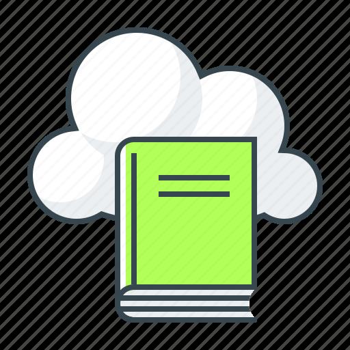book, cloud, library, literatura, literatura exchange, online, online library icon
