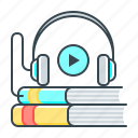 audio, audio book, book, education, learning, multimedia icon