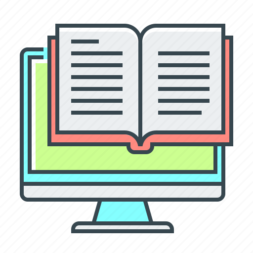 book, ebook, education, library, online, online library icon