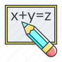 blackboard, formula, math, mathematics, physics, science icon