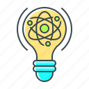 atom, bulb, lightbulb, molecular, molecular physics, physics, science icon