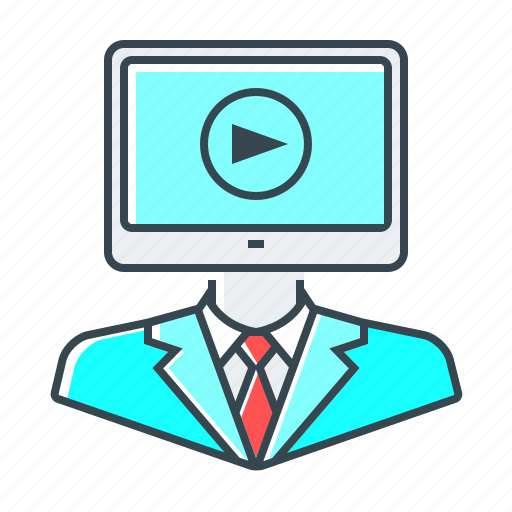 conference, e-learning, online, webinar icon