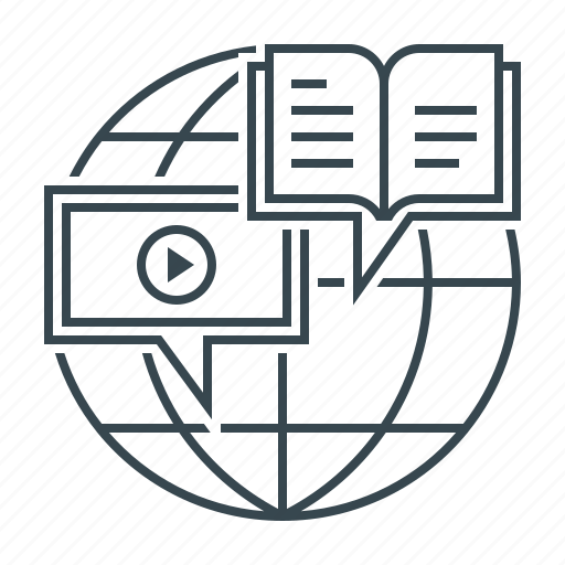distance, distance education, education, global, globe, lessons icon