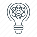 atom, bulb, electric, lightbulb, molecular, physics, science icon