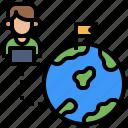 atom, education, monitor, science, world