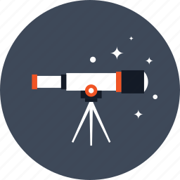 astronomy, discover, research, science, space, spyglass, telescope icon