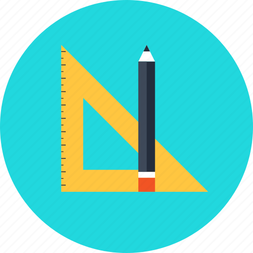 design, draw, geometry, graphic, pencil, ruler, tool icon
