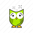 education, knowledge, owl, owl bird, wise icon