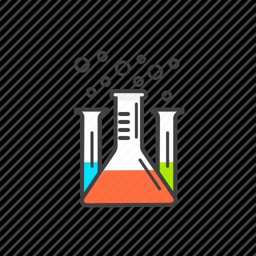 chemical, chemistry, testing, tube icon