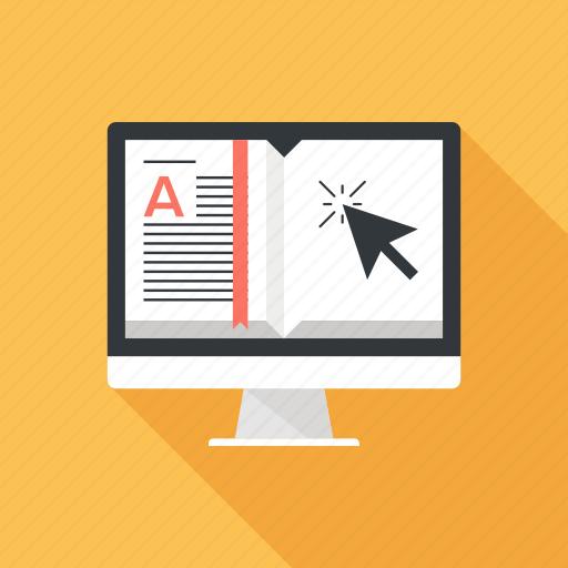 book, digital, ebook, education, electronic, online, read icon