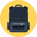 backpack, bag, education, knapsack, school, schoolbag, travel icon