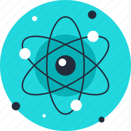 atom, energy, experiment, nuclear, physics, research, science icon