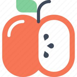 apple, diet, education, food, fruit, healthy, nutrition icon