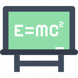 blackboard, education, knowledge, lesson, physics, school, science icon