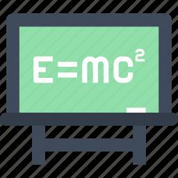 blackboard, education, knowledge, lesson, physics, school, science icon