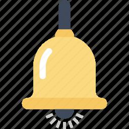 alarm, alert, bell, education, notification, ring, school icon