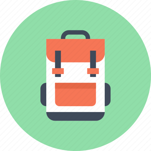 Backpack, bag, education, knapsack, school, schoolbag, travel icon - Download on Iconfinder