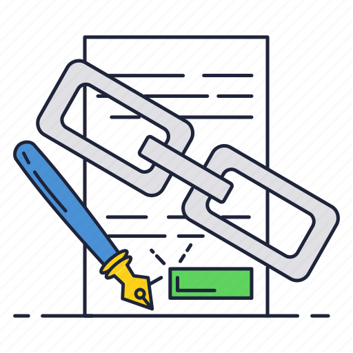 business, chain, contract, document, sign icon