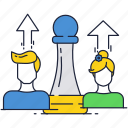 avatar, chess, game, payers, people, piece icon