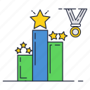 competition, first, leader, place, star, top, win icon