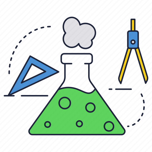 chemistry, education, experiment, flask, school, science icon