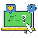 blackboard, equation, formula, math, root, school, square icon
