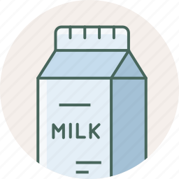 beverage, breakfast, drink, food, milk, packet icon