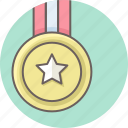 army, award, badge, medal, military, soldier, star icon