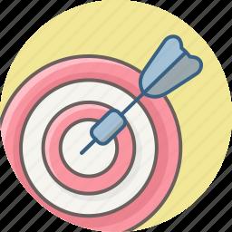 aim, board, bullseye, dartboard, focus, goal, target icon