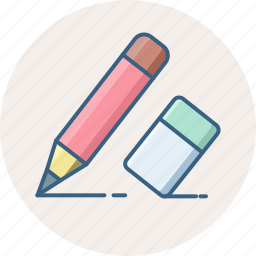 document, edit, eraser, pencil, stationary, write icon