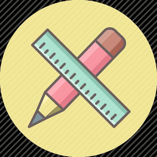 design, draw, measure, pencil, ruler, scale, write icon
