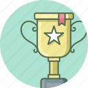 achievement, cup, prize, star, success, trophy, winner icon
