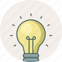 bulb, creative, electric, idea, innovation, light, lightbulb icon